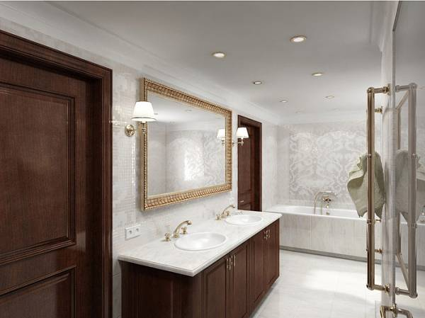 Ванная комната в классическом стиле